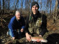 Rainbow Trout caught fly fishing (Harrison & Ivan)
