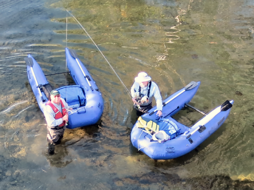 Frank & Jeff and their Voyager Pontoons