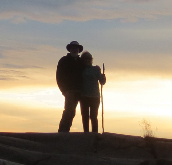 Jeff and wife at sunset