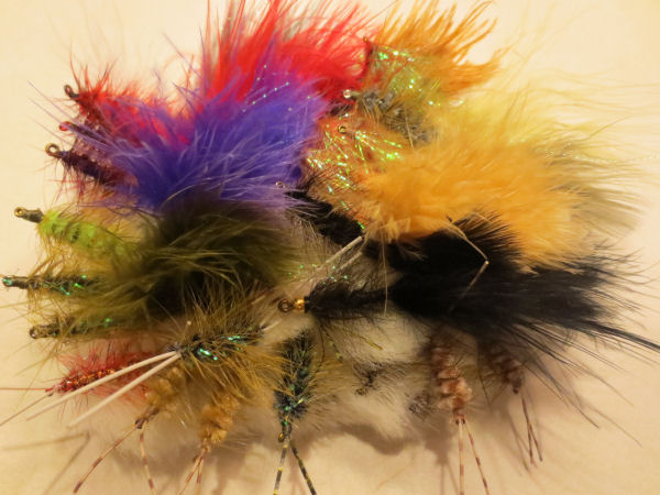 Group of fly fishing flys