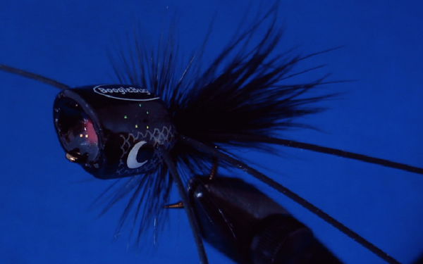 Black Boogle Bug Popper