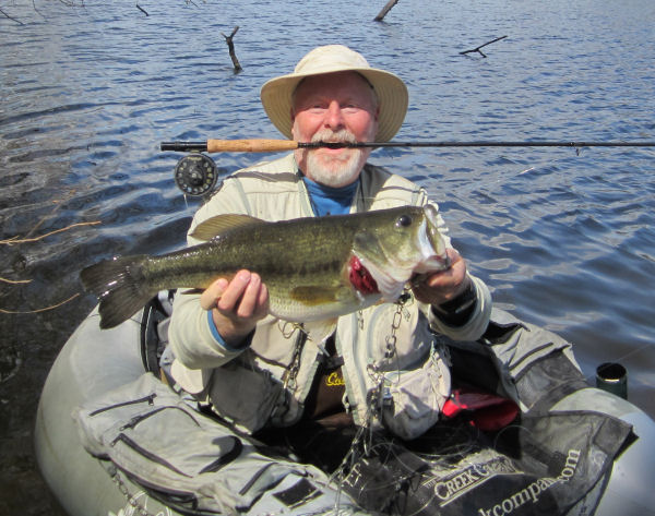 Big bass caught in Creek Company float tube