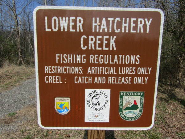 Lower Hatchery Creek Sign