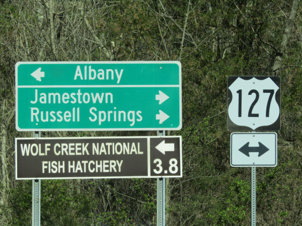 Sign for Wolf Creek National Fish Hatchery